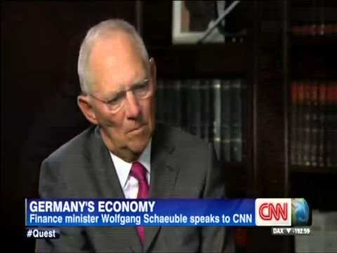 Wolfgang Schaeuble - Europe's Competitiveness, Germany's Strength (CNN)