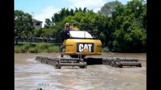 Cat315D Amphibious Excavator for Lake & Pond Cleaning