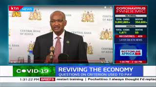 Reviving the economy: CBK Governor cautions some sectors of the economy will take longer to recover