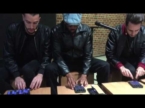 Rza and Parisi Brothers at the Apple Store in Williamsburg Brooklyn demoing Roli Blocks