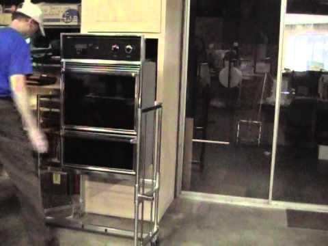 lifting alldolly used to install built in oven youtube rh youtube com installing samsung double wall oven install double wall oven