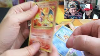 opening a pokemon xy evolutions two cp6 base set reprint booster boxes with laurenzside