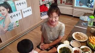 엄마생신브이로그 잡채 떡케이크