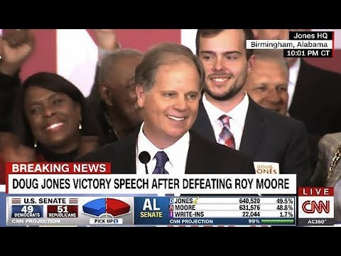FULL - Doug Jones Victory Speech (Wins Alabama Senate Seat)
