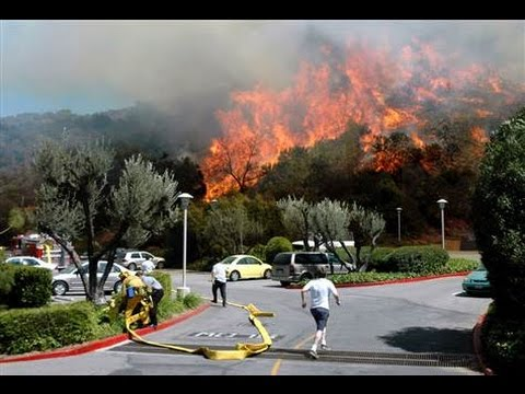 Fire in hollywood hills wildfire burning warning youtube - Hollywood hills tv show ...