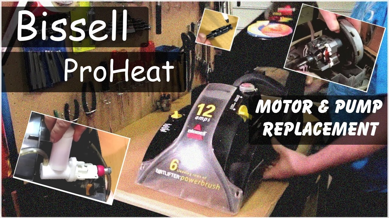 small resolution of replacing motor pump on a bissell proheat carpet cleaner model kenmore progressive vacuum parts diagram bissell vacuum cleaner wiring diagram