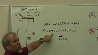 AVT 206 A&P - Tнe Math Behind the Bends - Example 3 - non-90 bend