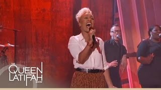 emeli sandé performs my kind of love on the queen latifah show