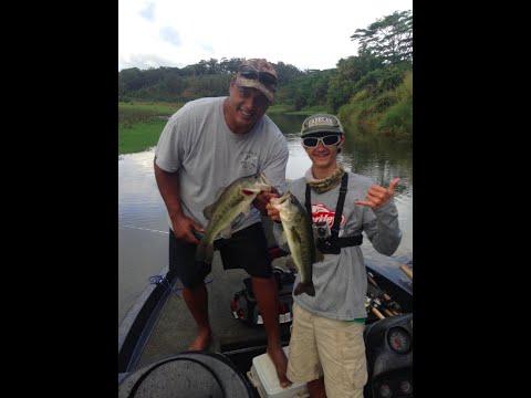 Hawaii Vlog Day 14!!! Bass Fishing, Waterfall, MORE!!!!!
