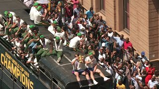Victorious Springboks receive heroes' welcome in Pretoria | AFP
