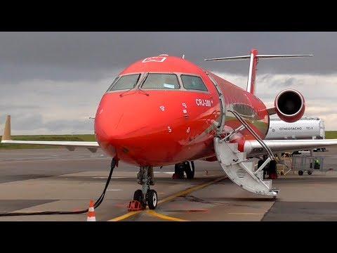 Летим! На дачу за 300 рублей! Москва - Калуга / Bombardier CRJ-200 РусЛайн