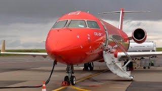 Летим! На дачу за 300 рублей : Москва - Калуга / Bombardier CRJ-200 РусЛайн