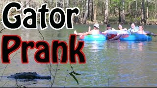 ORIGINAL ALLIGATOR PRANK In River!!! (Public Prank 2014)