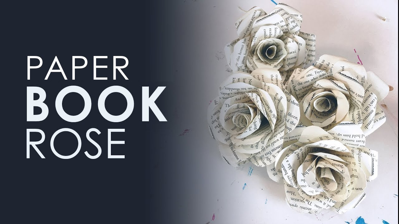 Origami Book Rose Diy Youtube