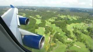Delta Air Lines 747-400 Landing Tokyo Narita Int'l