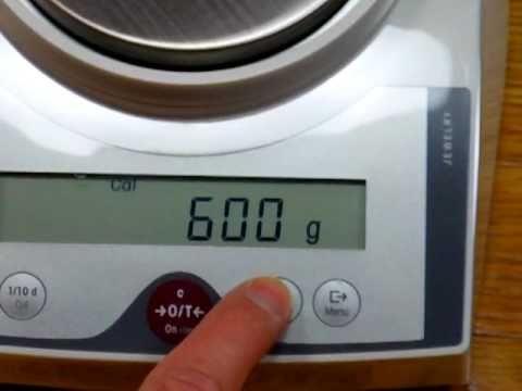 How to calibrate Mettler Toledo JL-602 digital scale