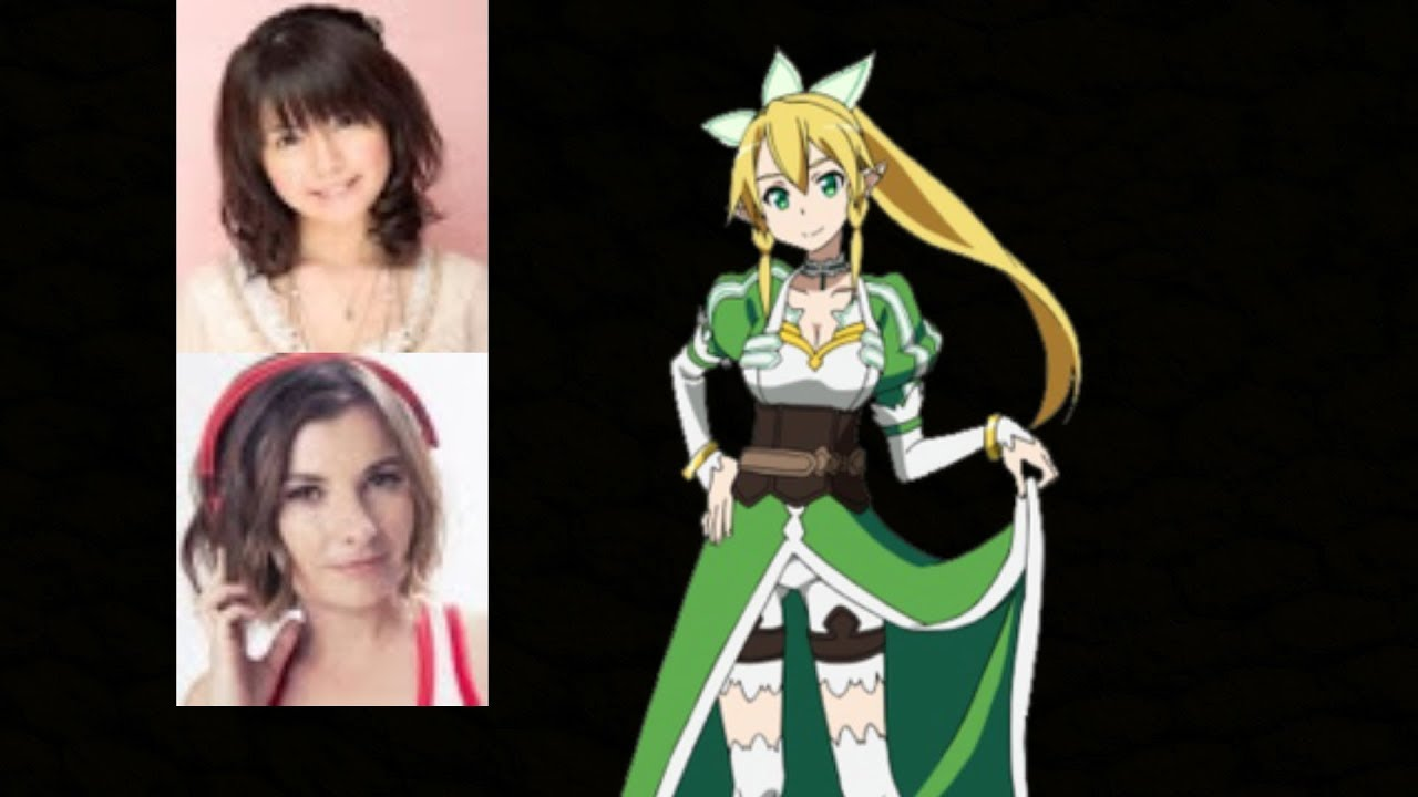 anime voice comparison leafa sword art online youtube