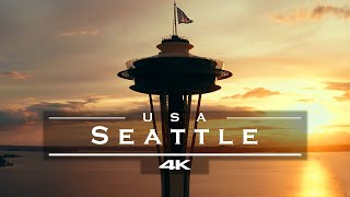 Seattle, USA 🇺🇸 - by drone [4K]