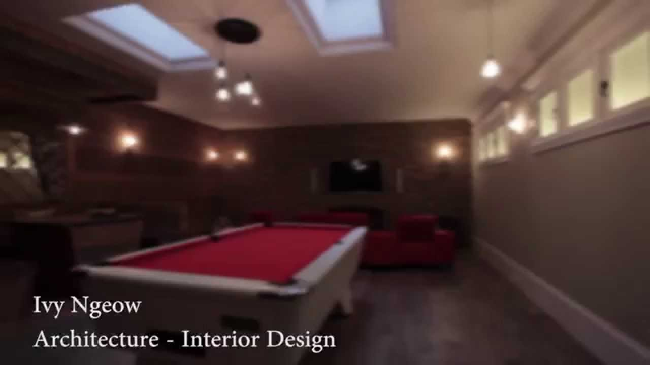 Basement entertainment room - Basement Entertainment Room In Wimbledon London England