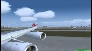 FS2004 Swiss A340-300 Miami to Zurich