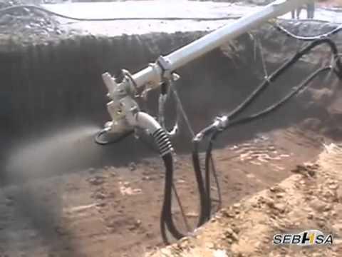 Pompe de beton si utilaje de torcret youtube - Pompe a teton ...