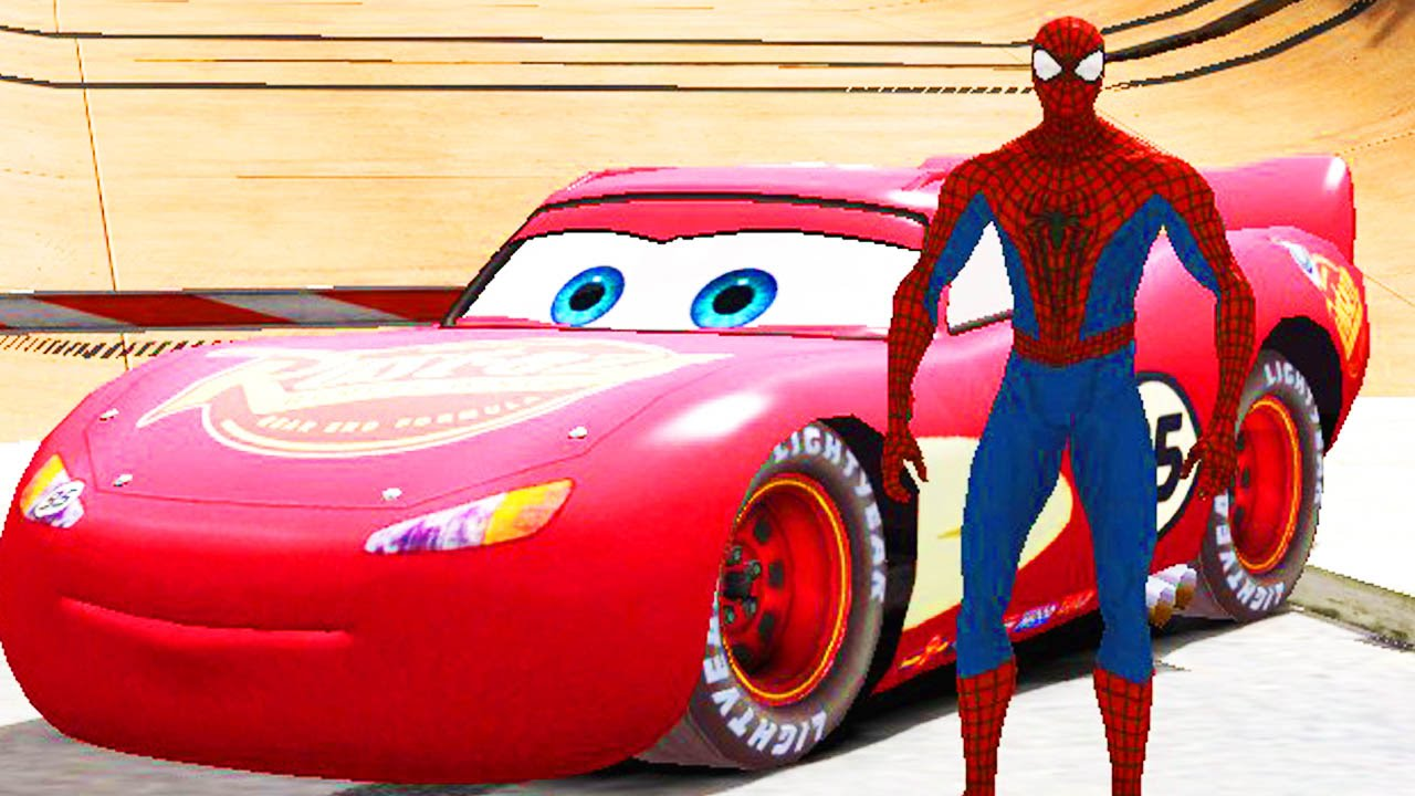spiderman danse avec flash mcqueen disney cars 2 dessin. Black Bedroom Furniture Sets. Home Design Ideas