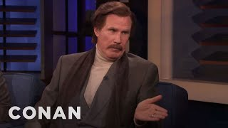 "Ron Burgundy Cracked The Zodiac Killer Case On ""The Ron Burgundy Podcast"" - CONAN on TBS"