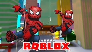 WE'VE TURNED SPIDER-MAN! -ROBLOX (2 Players Superhero Tycoon)