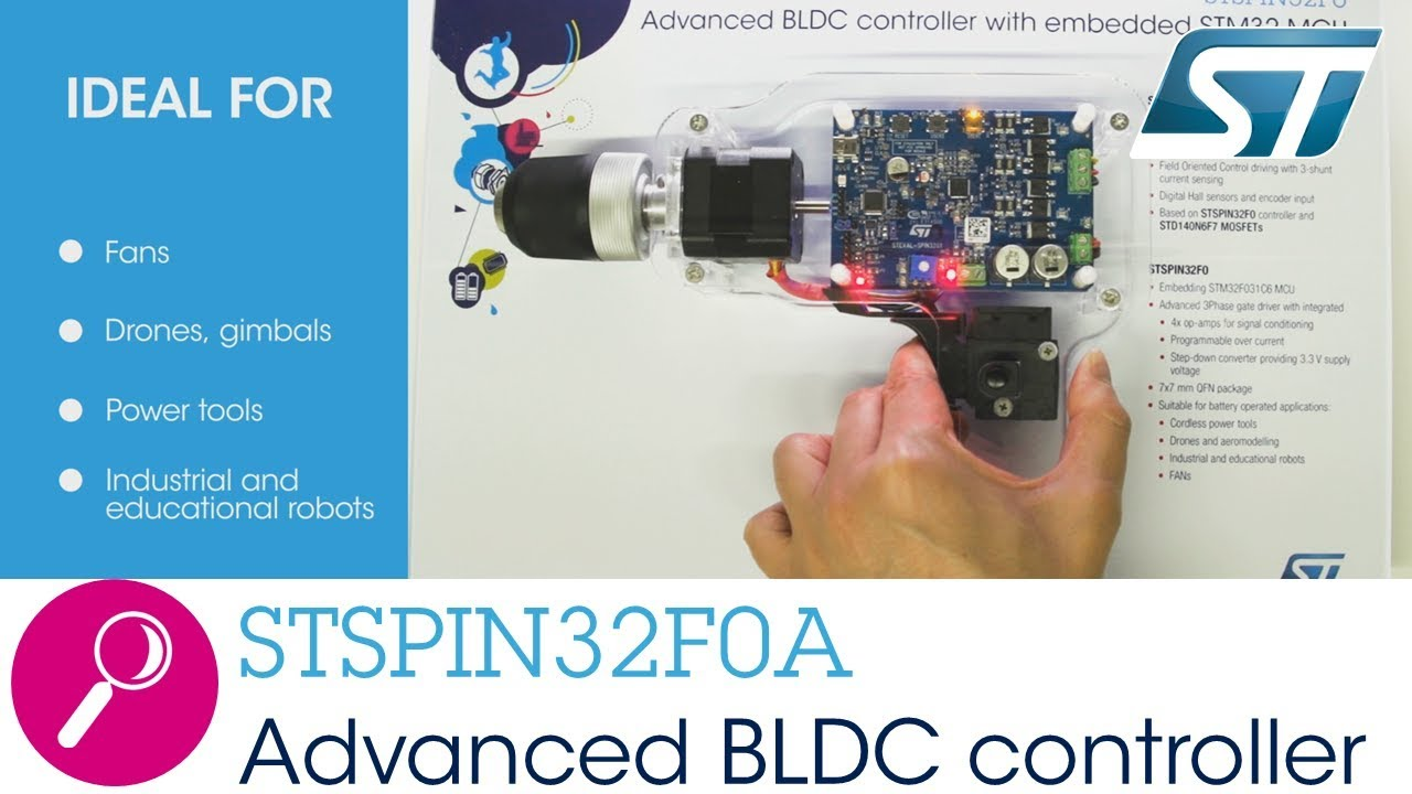 STSPIN32F0A, Integrated motor driver with brushless DC controller and  32-bit microcontroller