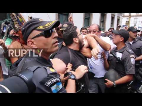 Brazil: Thousands of public workers protest austerity in Rio de Janeiro