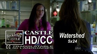 "Castle 5x24 Beckett and Lanie Girl Talk ""Watershed"" Kate & Lanie Advice Season Finale HD/CC"