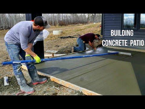 Construction of Concrete Patio Start to Finish [ASMR]