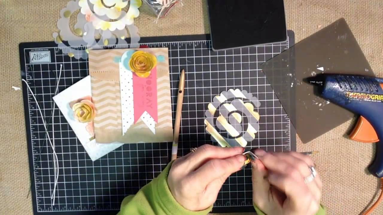 How to use the Spiral Flower Big Shot Die from Stampin UP!YouTube