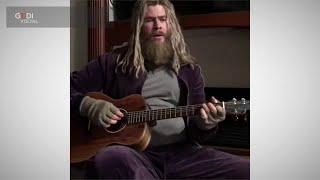 Sovrappeso per Thor canta Johnny Cash, ma nel prossimo film Chris Hemsworth sarà in forma