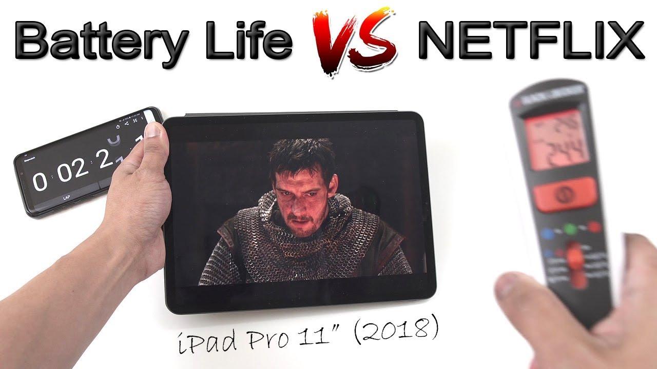 iPad Pro 2018   Battery Life Test Watching Netflix Videos [4K]
