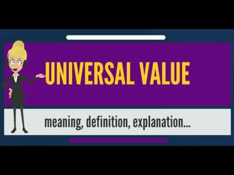 What is UNIVERSAL VALUE? What does UNIVERSAL VALUE mean? UNIVERSAL VALUE meaning