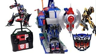 Transformers 4 Autobot Optimus Prime Radio Control Robot Nikko Truck Review Toy