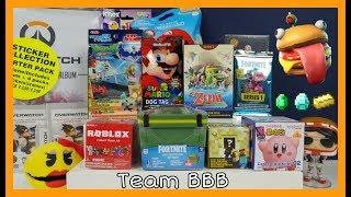 GAMER TOYS 11 FORTNITE Ammo Battle Box Trading Cards Kirby Nintendo OverWatch Zelda Squishies Gaming