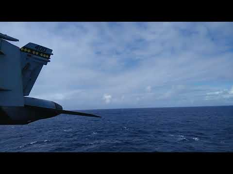 USS Nimitz Tiger Cruise 2017 warm up airshow f-18 super hornet US Marines super sonic fly by