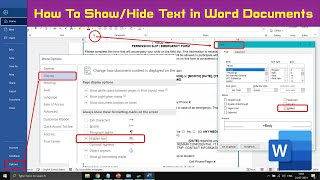 How to Show / Hide Text in Documents | Microsoft Word 2016 Tutorial | The Teacher