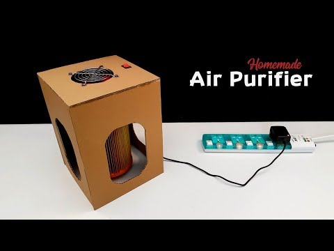 How To Make a Room Air Purifier from Cardboard at Home (Creative Life)