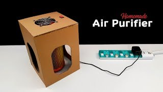 How To Make a Room Air Purifier from Cardboard at Home