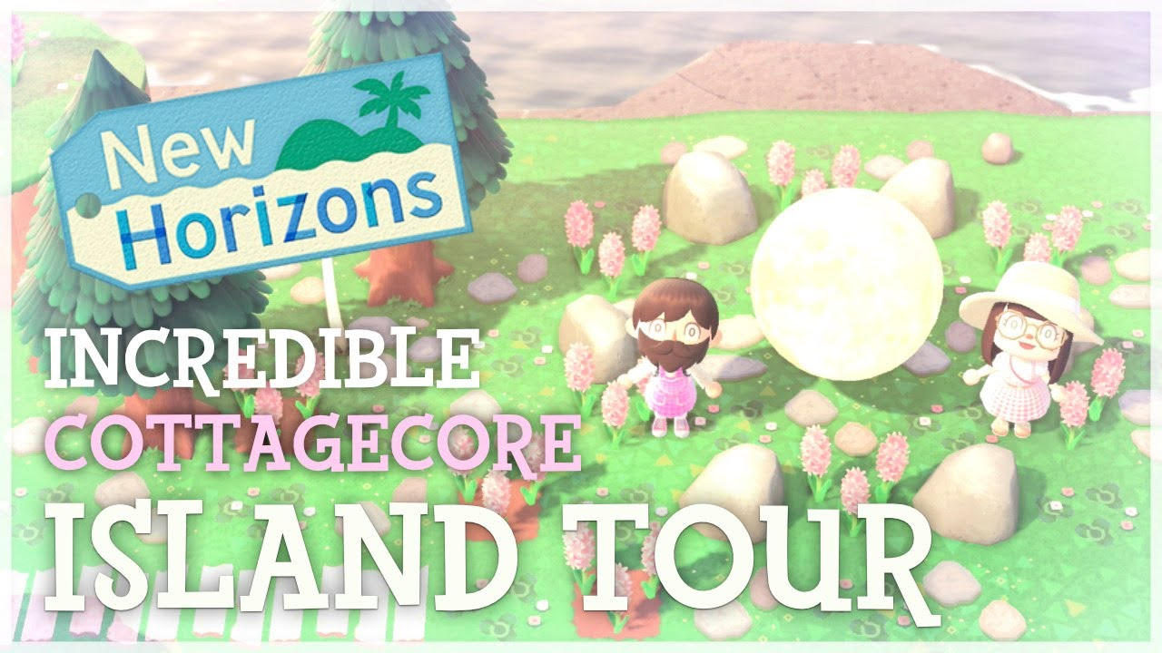 Animal Crossing New Horizons - Incredible Pink Cottagecore Island Tour