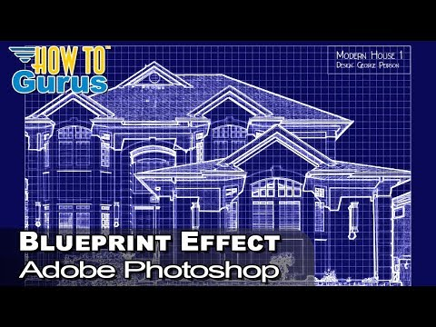 How to Create a Photoshop Blueprint Effect Quick and Easy - Blueprint Effect Photoshop Tutorial thumbnail