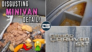 Deep Cleaning a DISASTER Minivan!! | Super Nasty Car Detailing and INSANE Transformation!