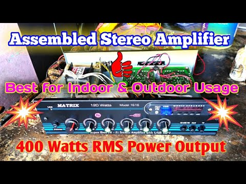 Assembled Stereo Amplifier for Indoor & Outdoor Usage   Heavy Power Output   Best for small Party's