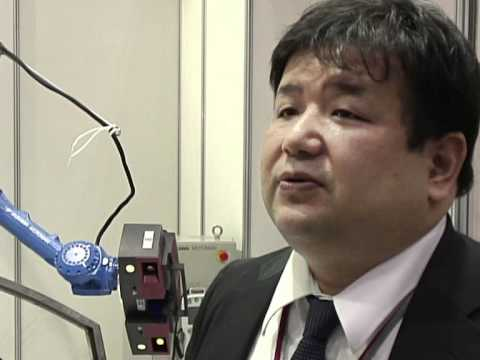 Industrial robots on show in Tokyo