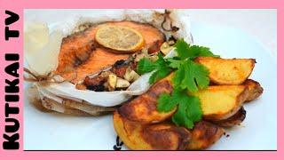 Запеченная Семга в духовке. Рецепт Сочной Рыбы.