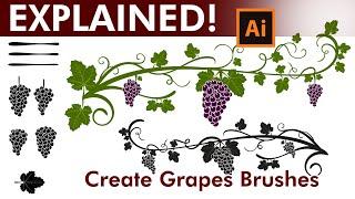 كيفية إنشاء مخصص العنب فرش في Adobe Illustrator
