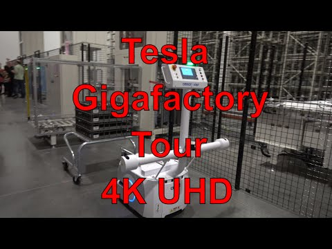 Tesla Gigafactory Factory Tour! Full COMPLETE Tour! 4K UltraHD